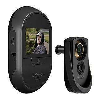 Brinno Peephole Camera SHC1000 - Safe - 12mm Size - DIY Install - LCD Screen Visitor Log - Knocking Motion Detection - Long-Lasting Battery - Black