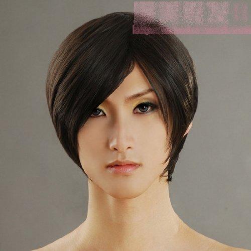 straight black Short cosplay wig Wig 30cm Black Headless Horseman Tensei Orihara Pro also cosplay wig (Headless Woman Costumes)