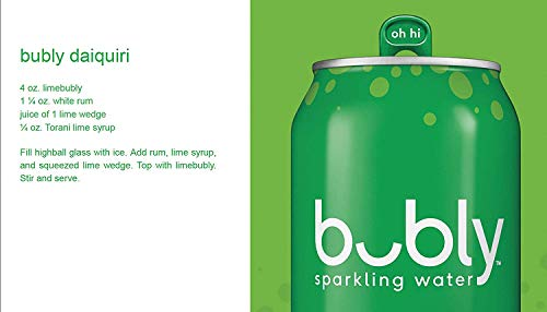 Large Product Image of bubly Sparkling Water, Lime, 12 ounce Cans(Pack of 8)