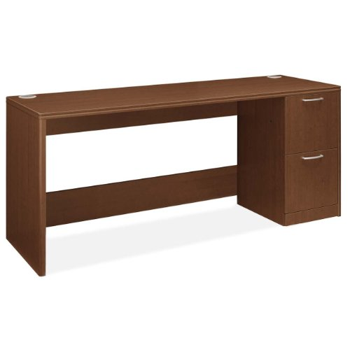 - HON Right Pedestal Credenza, 72 by 24 by 29-1/2, Shaker Cherry
