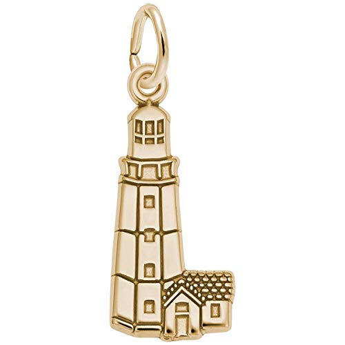 (Rembrandt Charms Lighthouse, Montauk Charm, 10K Yellow Gold)
