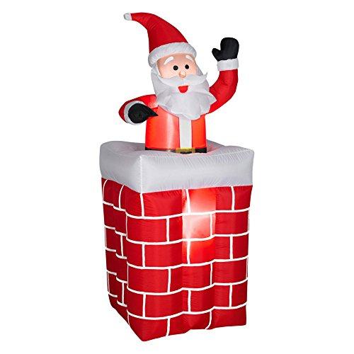 GEMMY INDUSTRIES 86119 5' Inflat Santa/Chimney Santa Chimney