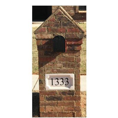 ABC Address Blocks Personalized Address Plaque 9'' x 16'' Medallion Style. Cast Stone. Engraved. by ABC Address Blocks (Image #2)