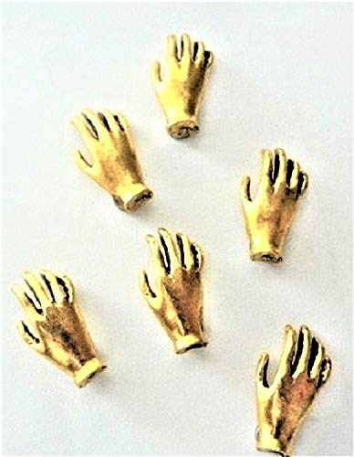 (DECORATIVE HAND MAGNETS SET OF 6 ANTIQUE GOLD M-512AG)