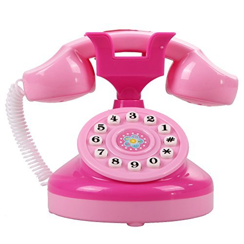 Educational Phone Toy - 1 Piece Educational Emulational Pink Phone Pretend Play Toys Girls Toy Gifts by Unknown