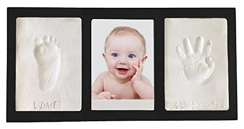 - Proud Baby Clay Hand & Footprint Keepsake Photo Wall Mount Frame Kit - Black
