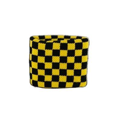 Digni reg Checkered black-yellow Wristband sweatband Set pieces free sticker Estimated Price £6.95 -