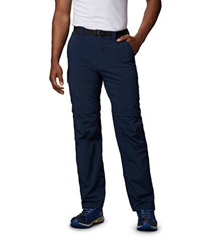 Columbia Men's Silver Ridge Convertible Pant, Breathable, UPF 50 Sun Protection, Collegiate Navy, ()