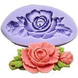 Rose Silicone Moule à Gâteau en forme de fleur pour fondant Pâtisserie Déco DIY