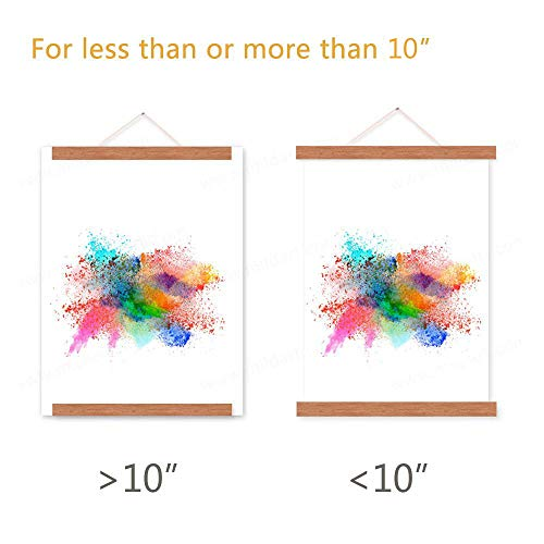 Benjia 10x14 10x15 10x13 Poster Frame, Magnetic Light Wood Frame Hanger for Photo Picutre Canvas Artwork Art Print Wall Hanging (1 Pack, 10'') by Benjia (Image #3)