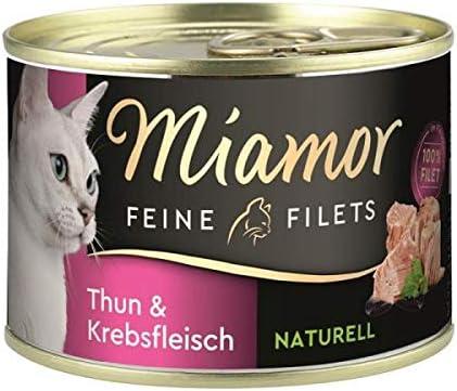 Miamor Dose Feine Filets Naturelle Thunfisch & Krebsfleisch 156 g (Menge: 12 je Bestelleinheit)