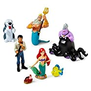 Disney The Little Mermaid Figure Play Set - Disney Little Mermaid Princess Ariel Figurine Cake Toppers Decorative Play Set