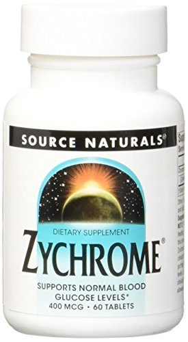 Source Naturals Zychrome, Supports Normal Blood Glucose Levels, 60 Tablets
