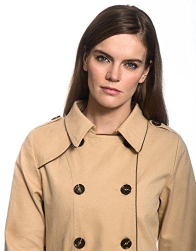 Trench Manteau Coat Boretti avec Vincenzo Contrastant Passepoil Femme H5qASw