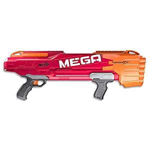 NERF MEGA - Twinshock Pump Action Blaster - inc 10 Official MEGA Darts - Kids Toys & Outdoor Games - Ages 8+
