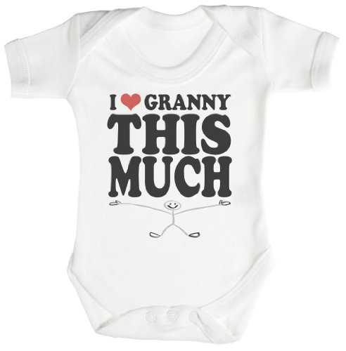 TRS - Love Granny This Much Baby Bodysuit / Babygrow 12-18M White]()