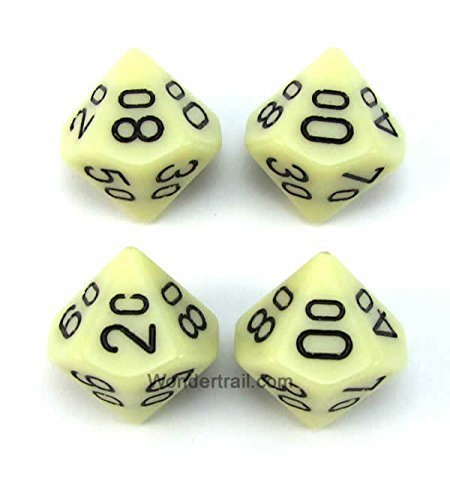 【メーカー包装済】 wcxpq1100e4アイボリー不透明Dice withブラック番号10s d10 ( Aprox 16 Chessex 4 mm ( 5/ 8in )パックof 4 Dice Chessex B00VWWR5EO, RINKAN:48d401d0 --- egreensolutions.ca