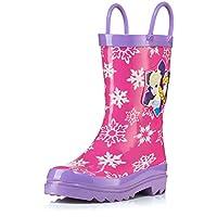 Disney Frozen Girls Anna and Elsa Pink Rain Boots - Different Sizes