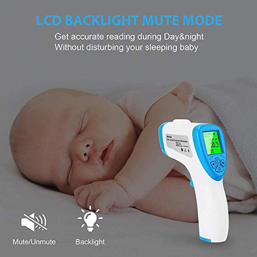 Infrared Forehead Thermometer for Babies, Kids and Adults, Non-Contact with Fever Alarm (Precise Accuracy, 1-Second Measurement)