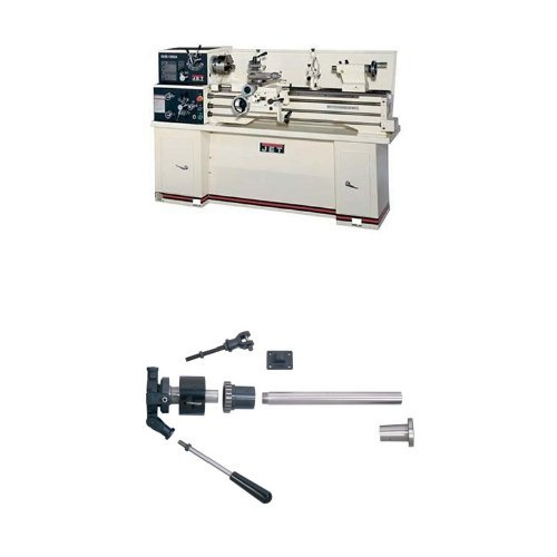 Jet 321122 GHB-1340A 13-Inch Swing by 40-Inch between Centers 230-Volt 1 Phase Geared Head Bench Metalworking Lathe with Acu-Rite 200T Digital Read Out with Collet Closer by Jet