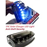 FidgetFidget Alarm Warning Strobe 1PC 6LED Solar Blue Burglar Flash Light Anti-Theft Security