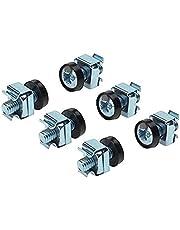 PremiumCord Rack-monteringssats, 4 x M6-skruvar, 4 x mor, 4 x plastskivor