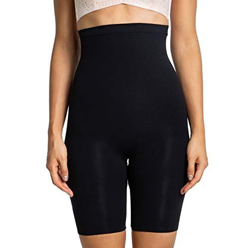 Mayuber Women's Shapewear Tummy Control High Waist Seamless Body Shaper Briefs Thigh Slimmer Waist Shaper Panties (XXXL,Black) (Best Woman Body Shape)