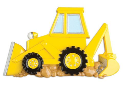 Back Hoe Personalized Christmas Tree Ornament