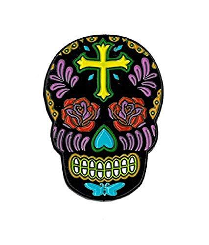 (Sunny Buick, Rose Cross Skull, Officially Licensed, Expertly Designed ENAMEL PIN - 1.25
