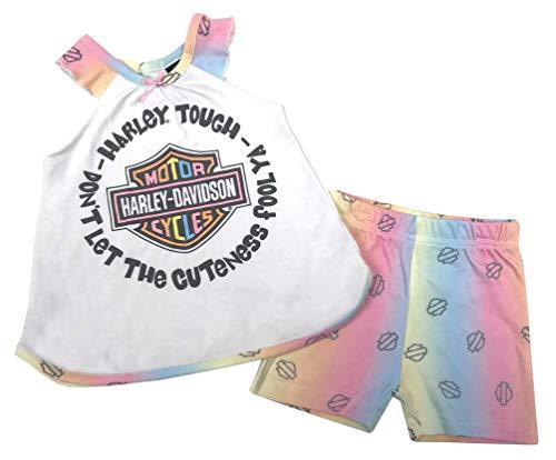 Harley-Davidson Baby Girls' 2-Pack Infant Knit Aline Tank & Shorts Set ()