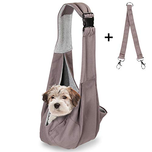 OWNPETS Pet Sling Carrier, Pet Sling Carrier Bag Safe, Comfortable, Reversible,Adustable, Fit Small...