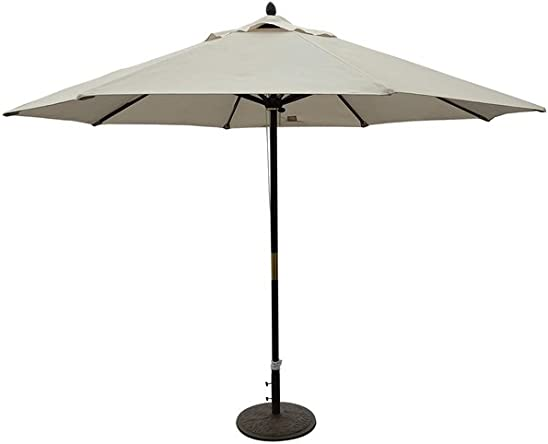 This 11-foot Outdoor Patio Market Umbrella Will Keep You Cool and Protected From the Sun. It Has a Solid Wooden Pole