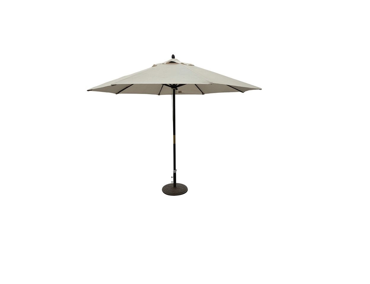 This 11-foot Outdoor Patio Market Umbrella Will Keep You Cool and Protected From the Sun. It Has a Solid Wooden Pole for Long-lasting Performance, Thread Coupling, and Includes a Premium Olefin Cover and Weather Resistant. - Pole Color: Dark woodShade, Color: Medium Beige Materials: Wood, olefin cover, pineapple finial 4 pulley lift system - shades-parasols, patio-furniture, patio - 41kYTuG7lzL -