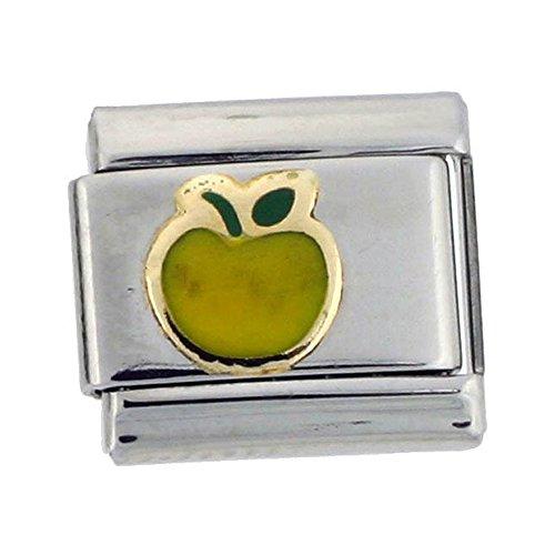 Stainless Steel 18k Gold Apple Charm for Italian Charm Bracelets