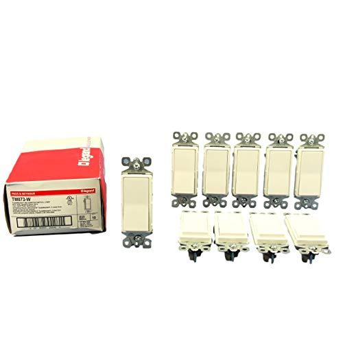 Pass & Seymour 3 Way - Pass & Seymour Legrand TM873-W Decora Switch, 3-Way, 15A, 120V, White (10 Pack)