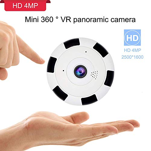 Price comparison product image 360 4MP WiFi Home Security Mini IP Camera,  Baby / Elder / Pet / Nanny Monitor,  HD 2688 x 1520P Wireless Indoor Security Surveillance CCTV Camera System with APP for iOS,  Android,  Night Vision, Two-Way Audio