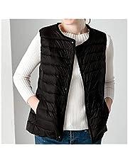 Winter Vest Female Women's Plus Size 4XL Sleeveless Jacket Warm Waistcoat Autumn Lightweight White Vests Women