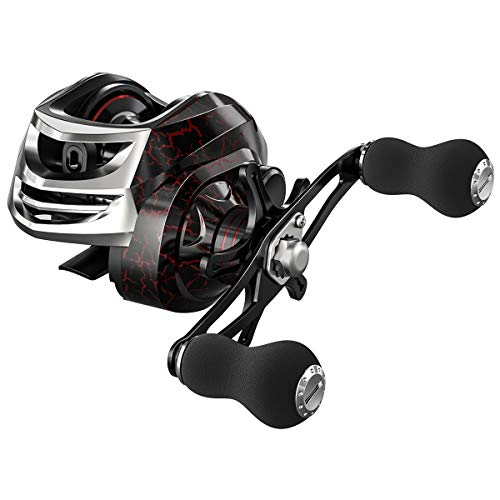 Lizard Lightweight Baitcasting Fishing Reel with13+1 Shielded Stainless Steel Bearings, 17.5Lbs Drag Power,Gear Ratio 6.3:1, Ultra Smooth Baitcaster Reel for Saltwater or Freshwater ()