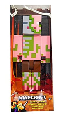 Majong Minecraft Zombie Pigman Large Scale Action Figure, 8.5 Inches