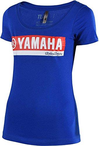 Troy Lee Designs Yamaha RS2 Womens T-Shirt (Blue, Medium)
