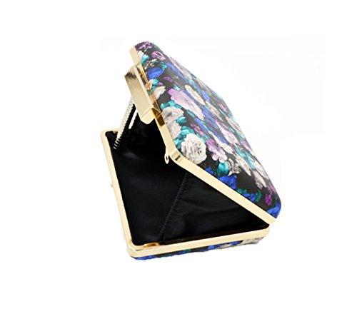 GSHGA Bolsos De Embrague De Las Mujeres Pu De La Piel Bolsa De Hombro De Impresión Retro Bolsos De Noche De Bolsos Cruzados Oblicuos Mini Bolsa De Mano,Retroprintingcolor Retroprintingcolor