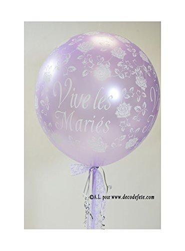 Belbal 1 balón gigante 90 cm Vive Les Mariés lavanda: Amazon.es: Hogar