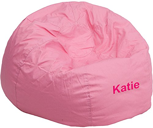 (Flash Furniture Personalized Small Solid Light Pink Kids Bean Bag Chair)