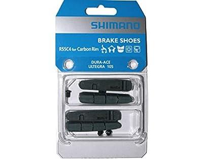 2 Pairs of Shimano R55C4 Brake Pads for Carbon Rim (Dura Ace, Ultegra, 105) Road Bike Brake Pads