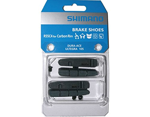 2 Pairs of Shimano R55C4 Brake Pads for Carbon Rim (Dura Ace, Ultegra, 105) Road Bike Brake Pads (Best Road Bike Brake Pads)