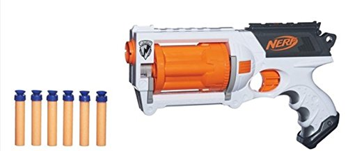 Nerf gun strongarm n-strike elite with bullets/ammo blue orange white and  other