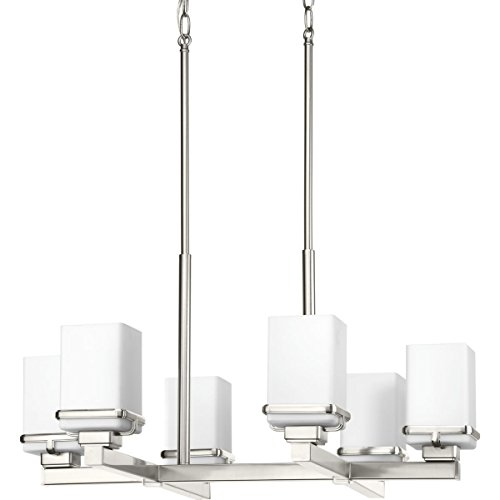 Progress Lighting P400046-009 Metric Brushed Nickel Six-Light Chandelier,