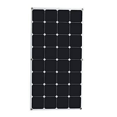 New 18V 100W 1050MM x 550MM Efficient Semi Flexible Solar Panel By koko