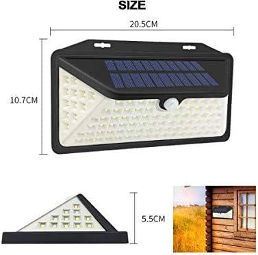Solar Lights Outdoor 102 Détecteur de mouvement et charge USB