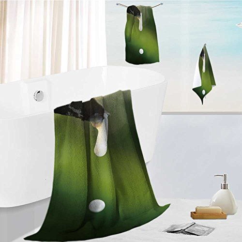 aolankaili Family Big Bath Towel Set Close up of The Rubber Latex Drop from a Rubber Tree Printing Print Bath Towel Super Absorbent Body Wrap Pool Towel
